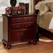 Furniture of America Smithson 2-Drawer Nightstand, Cherry