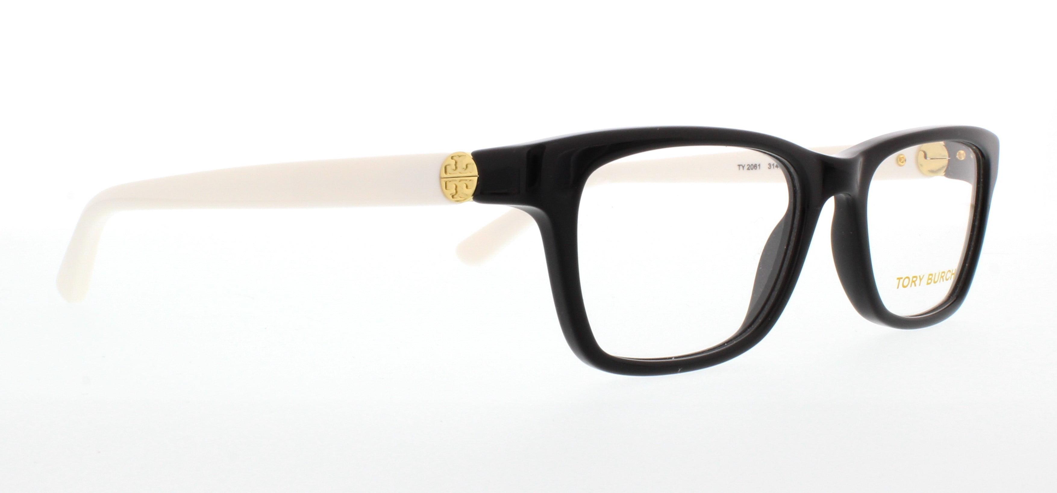 a22b768ff3 TORY BURCH Eyeglasses TY 2061 3149 Black Ivory 49MM - Walmart.com