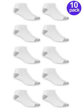 Athletic Works Men's Low Cut Socks, 10 Pack