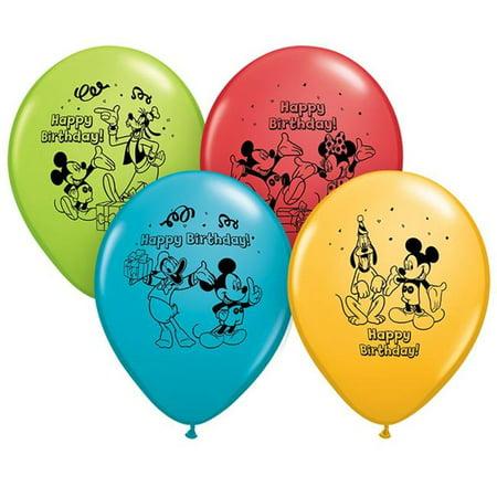 Pioneer Balloon PBN72419BN 12 in. Mickey Happy Birthday Balloons - Pack of 6 - image 1 de 1