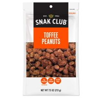 (Price/CASE)Snak Club 1721528 Century Snacks Premium Pack Toffee Peanuts 7.5 ounce - 6 Per Case