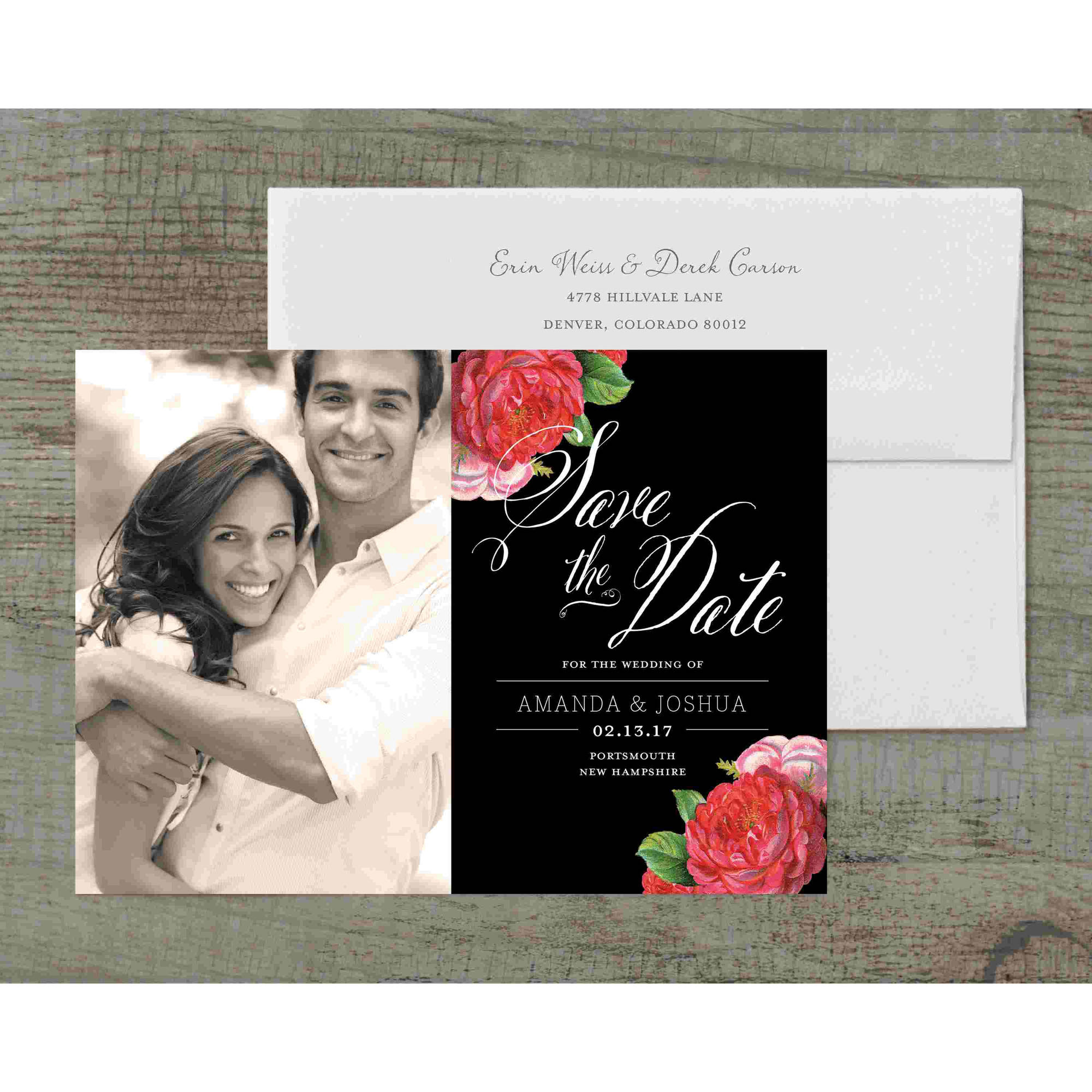 Vintage Blooms Deluxe Save the Date