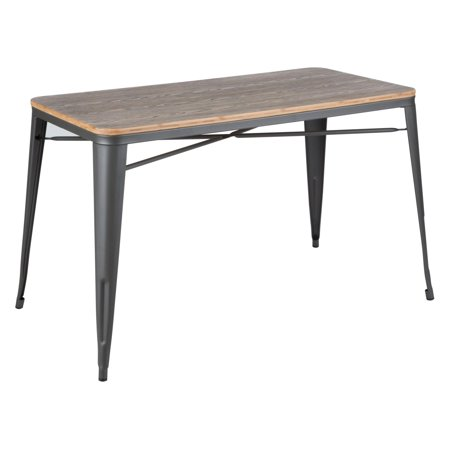 Oregon Industrial-Farmhouse Utility Table in Grey and Brown by LumiSource