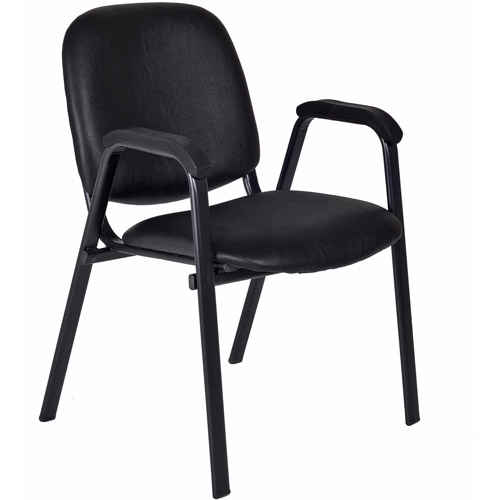 Regency Products Ace Vinyl Stack Chair, Black Vinyl