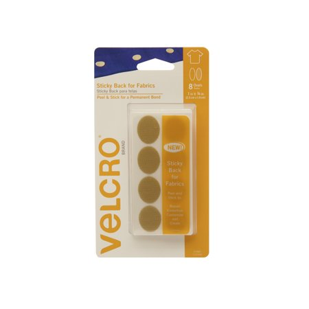 velcro brand sticky back for fabrics 1in x 3 4in ovals beige 8 ct. Black Bedroom Furniture Sets. Home Design Ideas