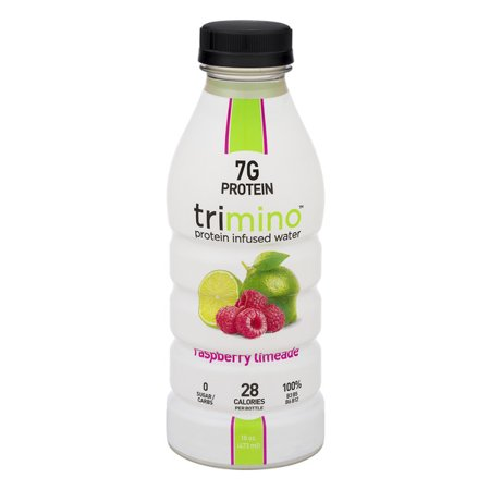 Trimino Protein Infused Water, Raspberry Limeade, 16 Fl Oz, 12 Ct