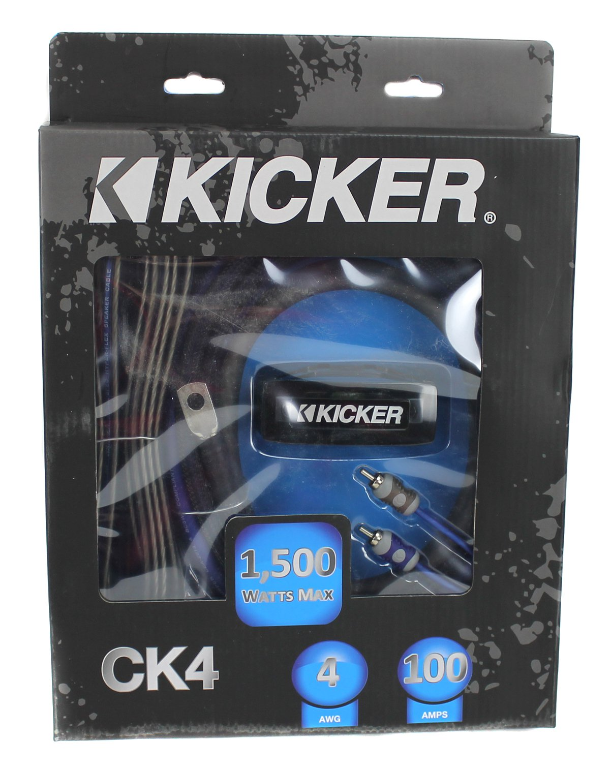 Kicker Complete 4 Gauge Amp Kit 2channel Amplifier Vehicle Wire