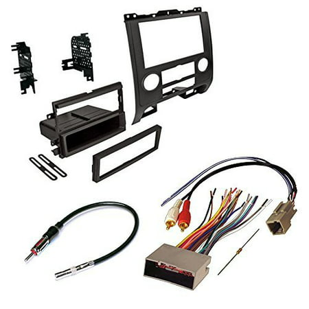 mercury 2008-2010 mariner (w/o factory navigation) car radio stereo radio kit dash installation mounting w/ wiring harness and radio antenna