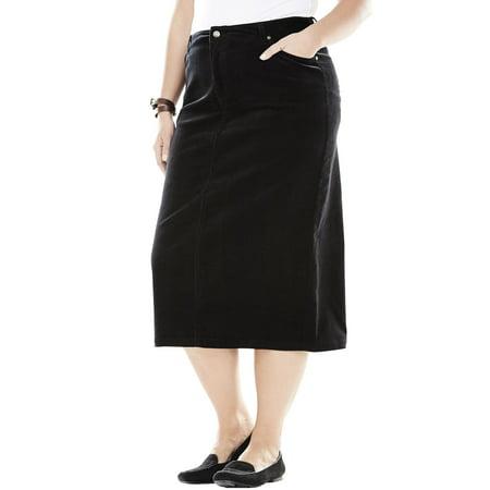 af051c88a4e Woman Within - Plus Size Corduroy Skirt - Walmart.com
