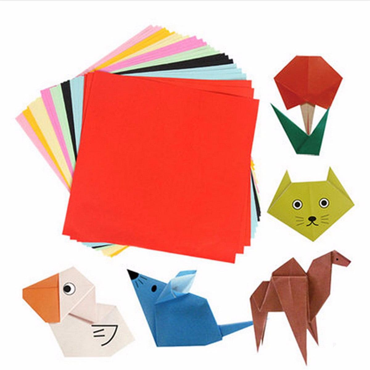 100 Sheets Mixed Colors Square Folding Crane Origami DIY Craft ... | 1200x1200