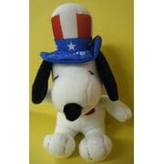 Peanuts Plush Snoopy as Uncle Sam America, Metlife Plush Snoopy dressed as Uncle Sam By Metlife by