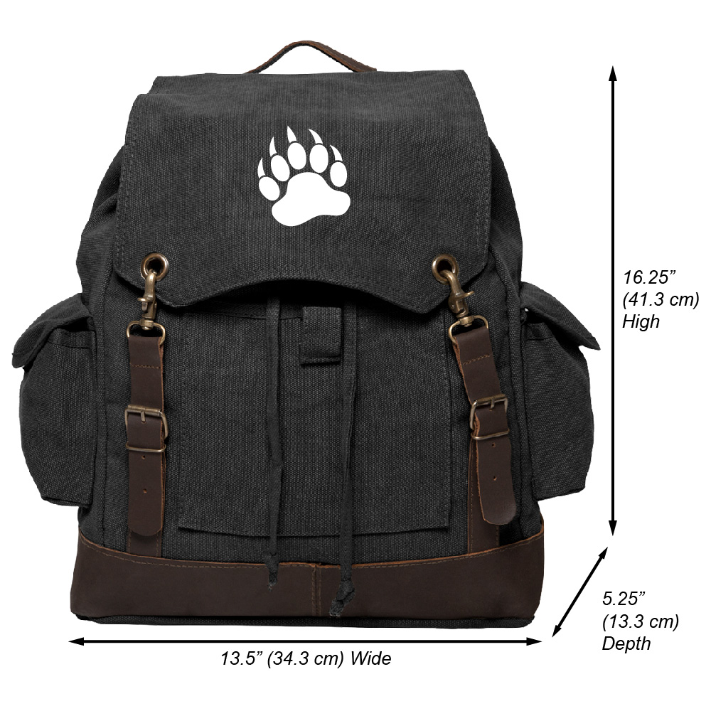 Drawstring Backpack Love Paw Bags Knapsack For Hiking