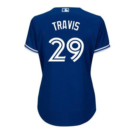 Women's Devon Travis Toronto Blue Jays MLB Cool Base Replica Away Jersey - image 2 de 2