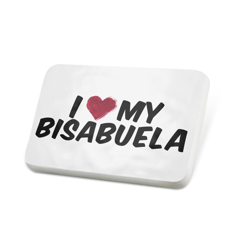 Porcelein Pin I heart love my Bisabuela Lapel Badge – NEONBLOND