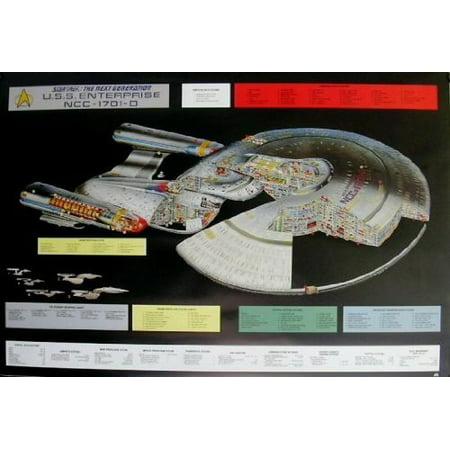 star trek u s s enterprise ncc 1701 d cutaway movie poster by