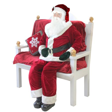 - Huge 6 Foot Life-Size Decorative Plush Standing Santa Claus