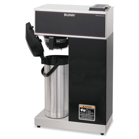 Bunn Commercial Iced Tea Maker - BUNN VPR-APS Pourover Thermal Coffee Brewer with 2.2L Airpot, Stainless Steel, Black