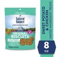 Natural Balance L.I.T. Limited Ingredient Treats Sweet Potato & Chicken Formula Small Breed Dry Dog Treats, 8-Ounce