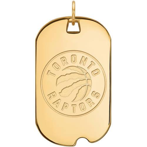 NBA Toronto Raptors 14kt Yellow Gold Large Dog Tag