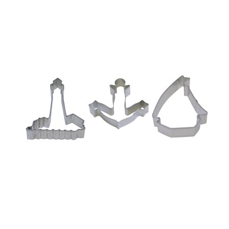 3 Piece Cookie Cutter Set Anchor 4.5