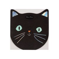 Meri Meri Black Cat Halloween Napkins, 16ct