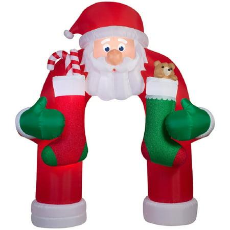 holiday living 12 ft x 492 ft animatronic lighted santa archway christmas inflatable - Animatronic Christmas Decorations