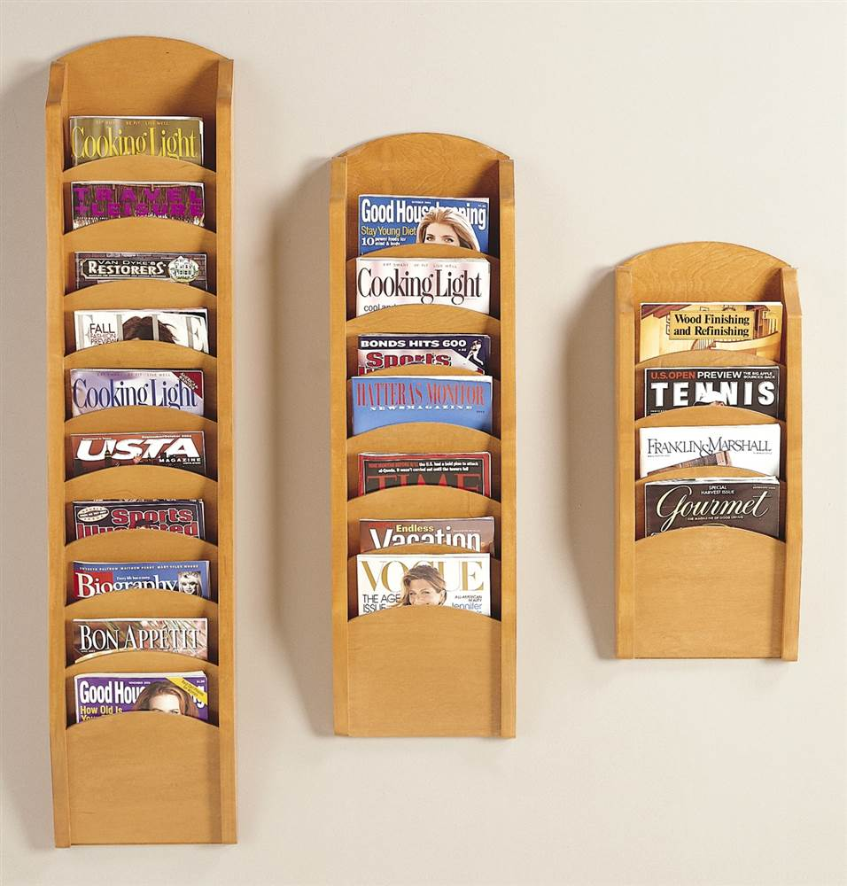 Pocket Magazine Rack Set (Black) by Lesro Industries, Inc.