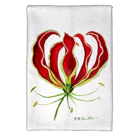 Betsy Drake KT482 Red Lily Kitchen Towel - image 1 of 1