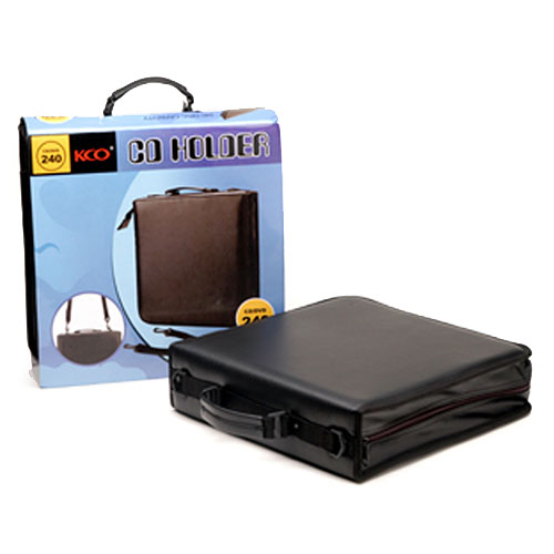 Cd Case-240, Holds 24 Cd's. Pvc Leather