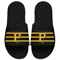 Pittsburgh Pirates ISlide Youth MLB Stripe Slide Sandals - Black