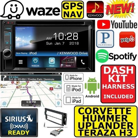 05-13 CORVETTE 06-13 HUMMER H3 KENWOOD WAZE NAVIGATION APPLE ANDROID CAR  STEREO