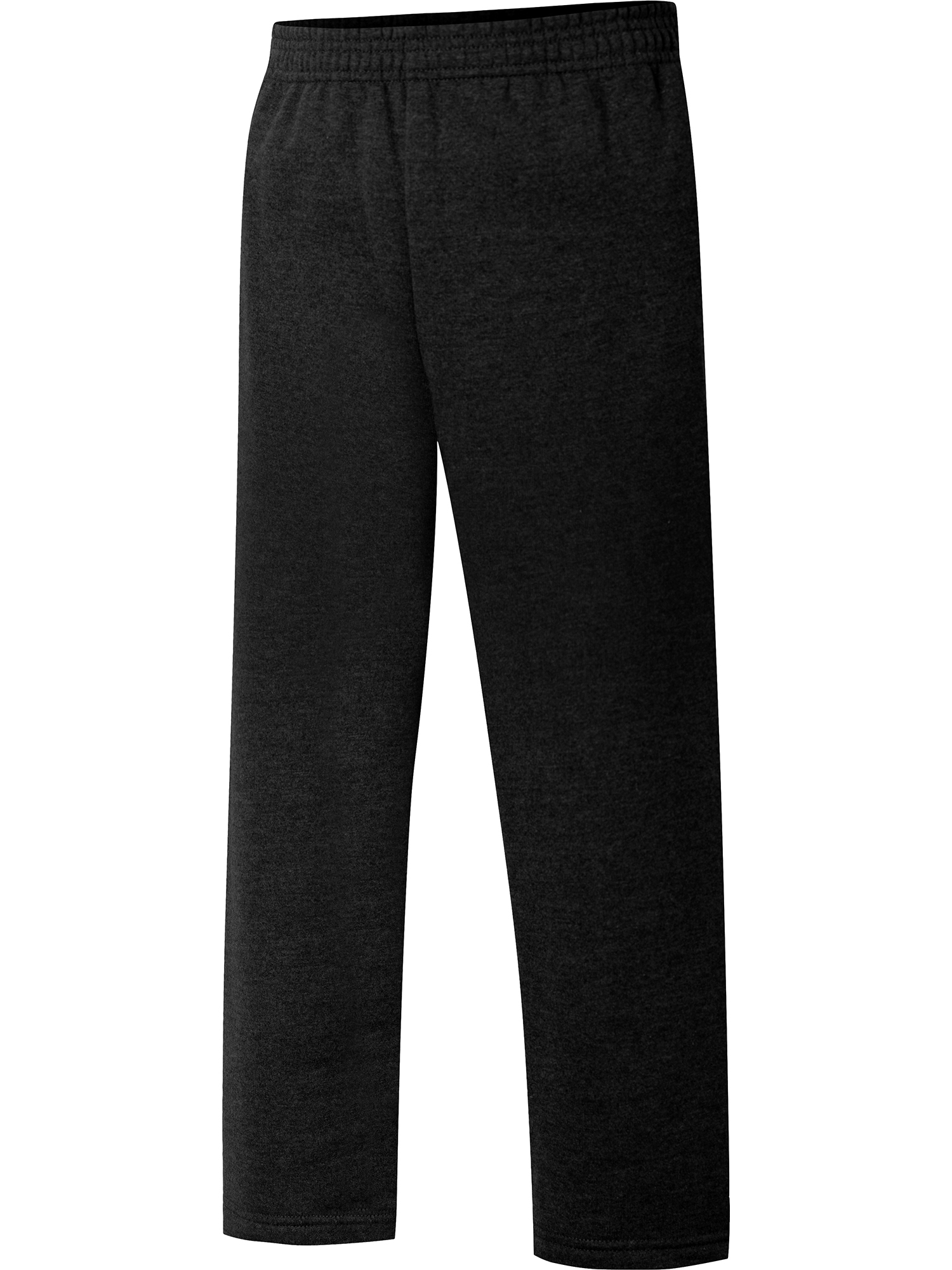 8 Medium Basic Editions Boys Open Leg Side Stripe Fleece Pants Size 4-5 XS