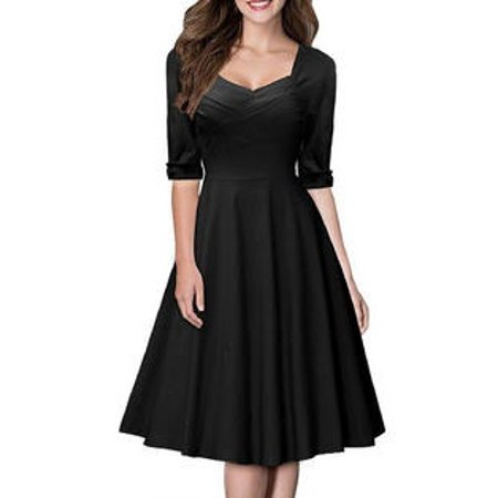 Retro Fashion Women (Unomatch Women Retro Dress Fashion Halter Dress Black)