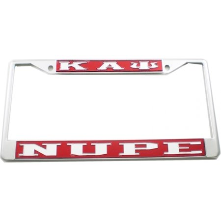 Kappa Alpha Psi Nupe License Plate Frame  Red Silver   Car Truck