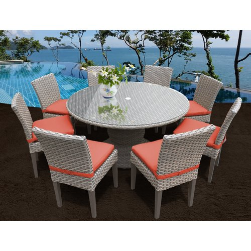 TK Classics Monterey 9 Piece Dining Set with Cushions