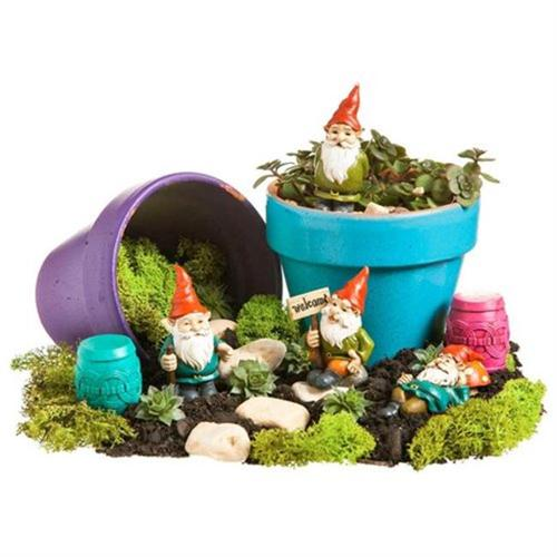All in a Day's Work, Mini Garden Gnome Statuary, 4 Assorted by EVERGREEN ENTERPRISES