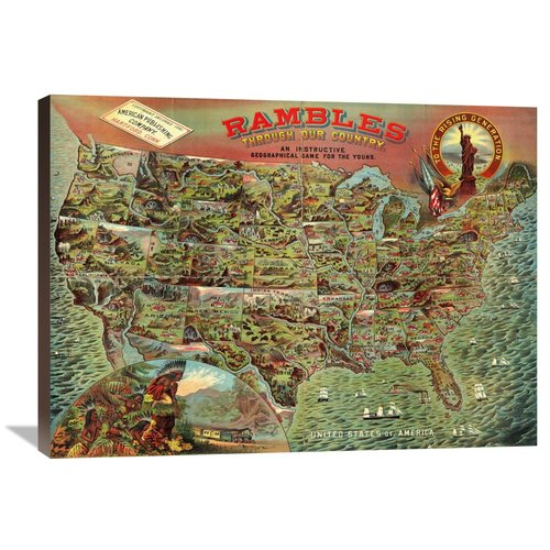 Global Gallery Rambles Through Our Country, 1886 Graphic Art on Wrapped Canvas