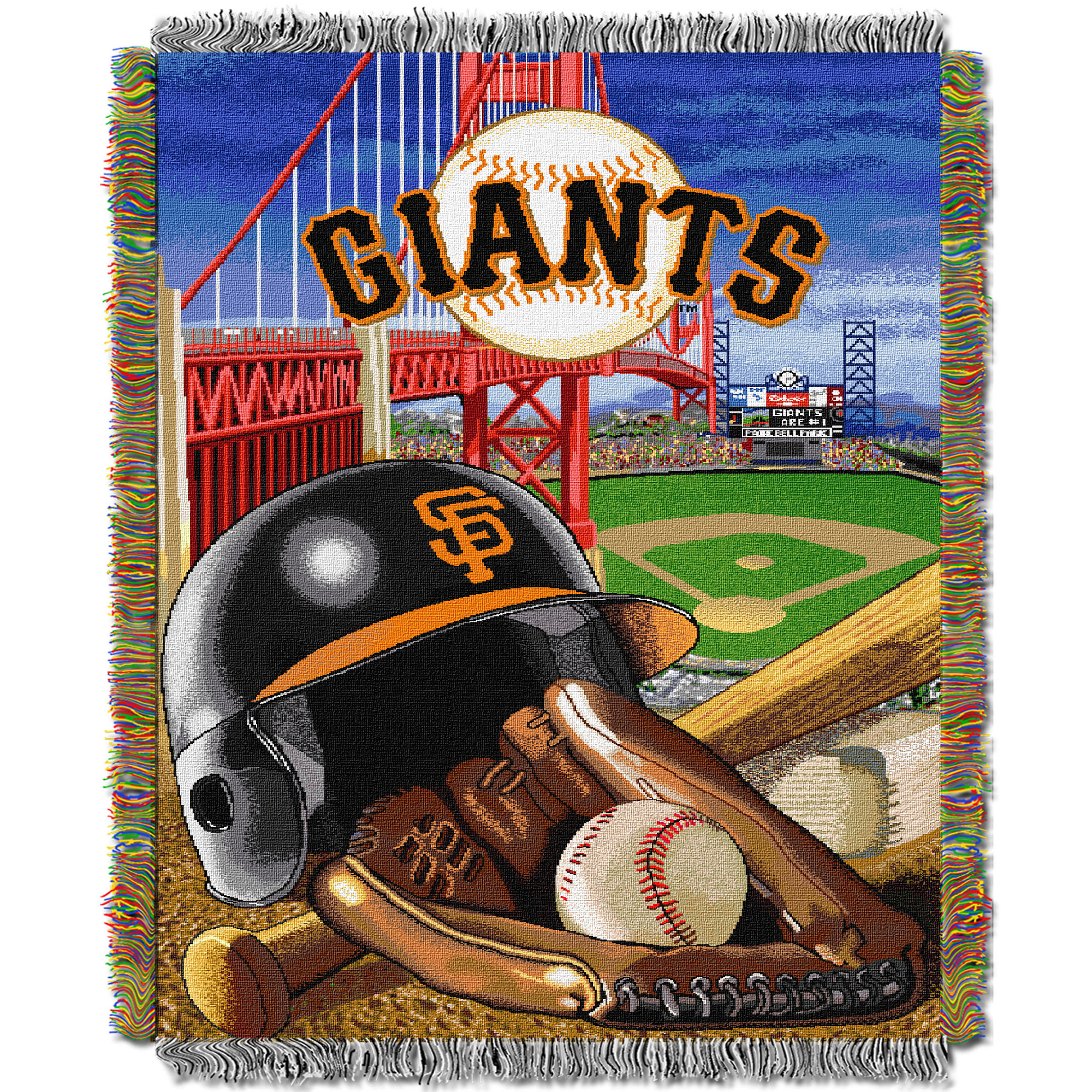 San Francisco Giants The Northwest Company 48'' x 60'' Home Advantage Woven Throw - No Size