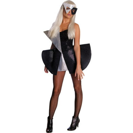 Lady Gaga Black Sequin Dress Adult Halloween Costume - Lady Gaga Dance Costumes