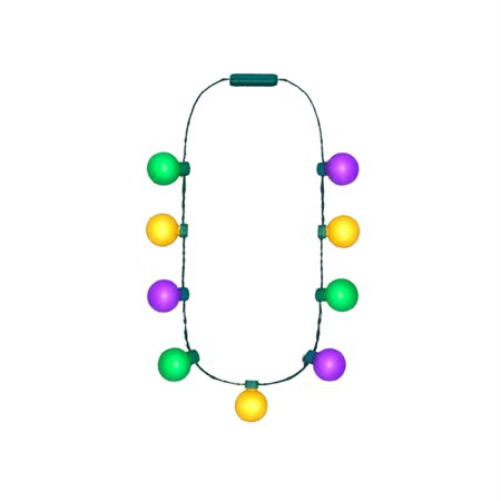 Large Light Party Globes Mardi Gras Parade Light Up Crewe Necklace for Fat Tuesday