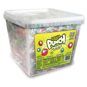 Sour Punch Twists 4 Flavor Tub: 2.7 LBS