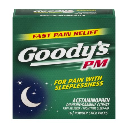 Goody's PM Powders, Pain Reliever + Nighttime Sleep Aid, 16 (Pain Reliver)