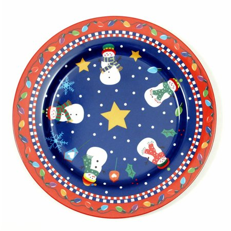 Christmas Platter Plates.Chef Craft Christmas Plate With Snowman 13 Inch Serving Platter