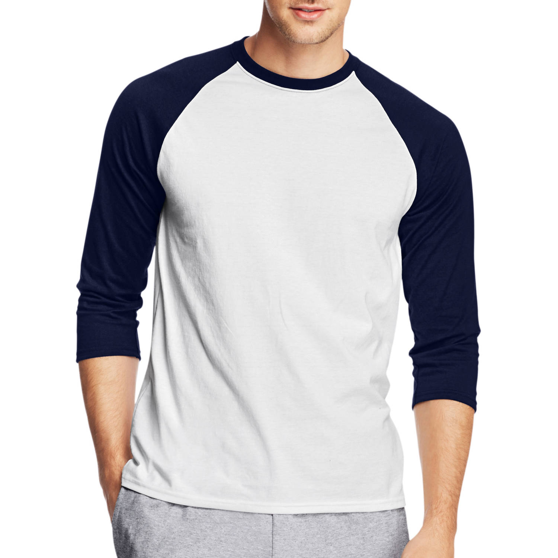 factory authentic e8d06 4fe28 X-Temp - Hanes Men s X-Temp 3 4 Sleeve Baseball Raglan T-shirt - Walmart.com