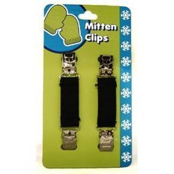 Mitten Clip, Kids Mitten Keepers With Metal Snowman Clip Design BrownEasy to use, reusable By JAG