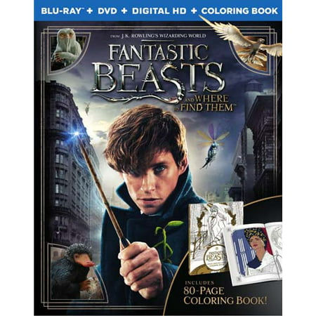 Fantastic Beasts and Where to Find Them (Blu-ray + DVD + Digital HD+ Coloring