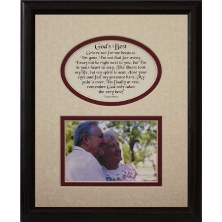 Picture Pottery (8X10 God's Best Picture & Poetry Photo Gift Frame ~ Cream/Burgundy Mat With Black Frame Memorial Bereavement Sympathy Condolence Picture And Poetry Keepsake Gift Frame)