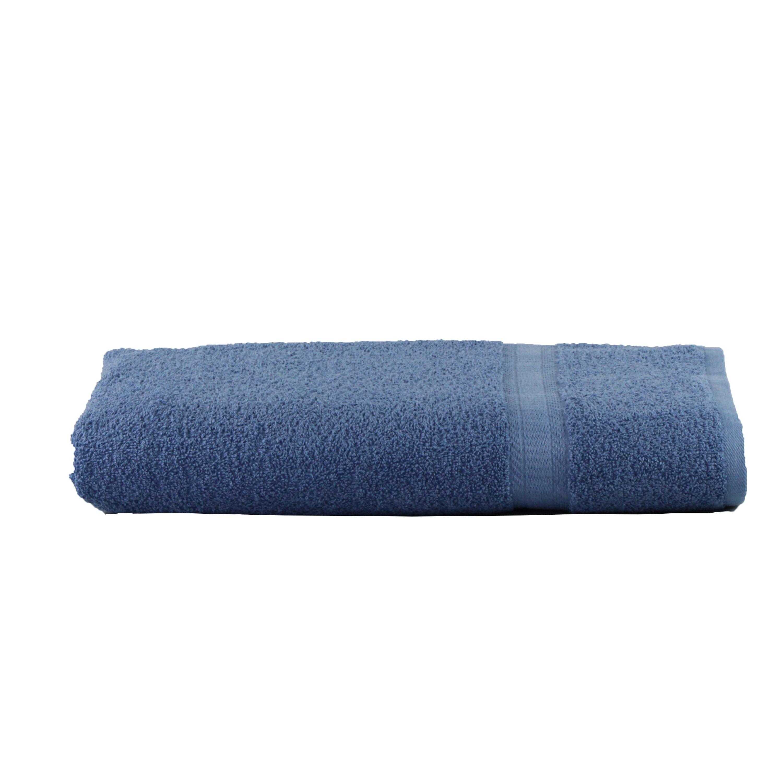 Mainstays Basic Bath Collection - Single Bath Sheet, Solid Blue