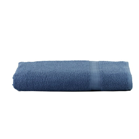 Mainstays Basic Bath Collection - Single Bath Sheet, Solid Blue