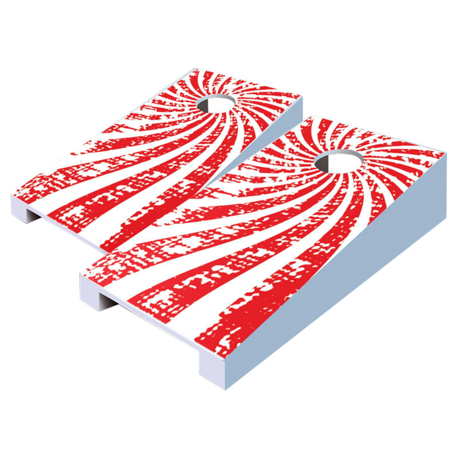 Swirl Tabletop Cornhole Set by AJJ Cornhole